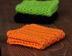 Orange Crochet Dish Cloth