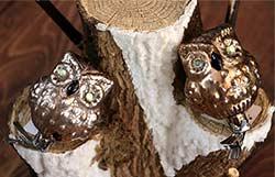 Glass Owl Clip Ornament