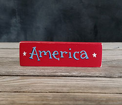 America Mini Stick Shelf Sitter with Stars
