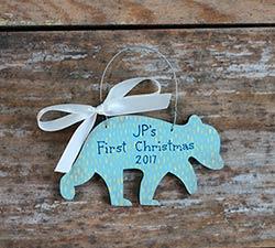 Baby Bear Ornament - Blue