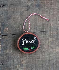 Dad Wood Slice Ornament (Personalized)