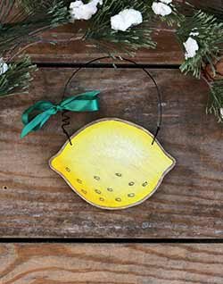 Lemon Personalized Ornament