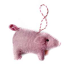 Pig Wool Ornament