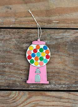 Gumball Machine Personalized Ornament - Pink