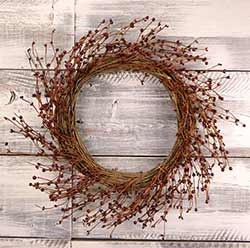 Burgundy Pip Berry Wreath