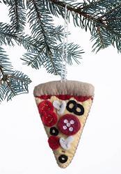 Pizza Slice Felt Ornament