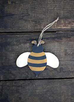 Primitive Bee Ornament