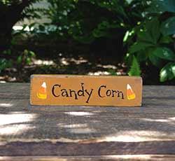 Candy Corn Mini Stick Shelf Sitter