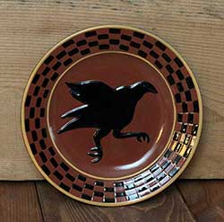 Primitive Crow Redware Plate (Small)