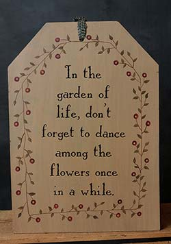 Garden of Life Oversized Tag Wall Art