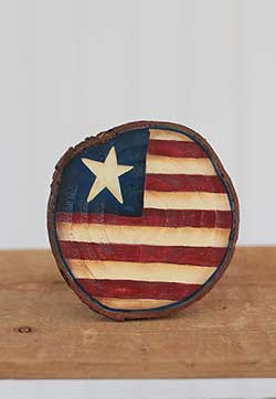 Americana Wood Slice Ornament