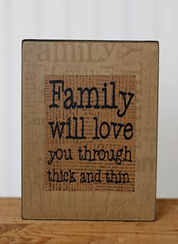 Family Box Sign - Thick and Thin