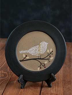 Perched Bird & Berry Plate - Songbird