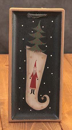 Stocking Hanging Tray with Santa