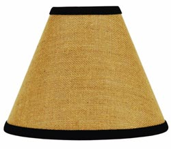 Burlap Black Lamp Shade - 12 inch