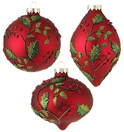 Red Holly Ornament