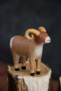 Recycled Paper Animal Ornament - Ram