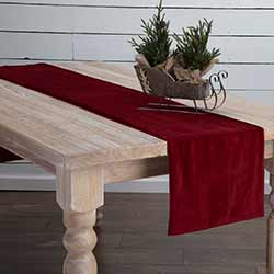 Red Velvet 90 inch Table Runner