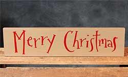 Merry Christmas Wood Sign - Tan