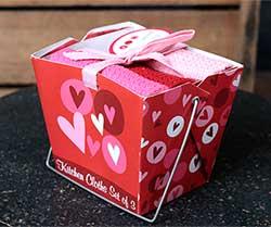 Valentine's Day Takeout Dishcloth Set