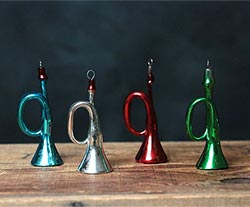 Retro Glass Horn Ornament