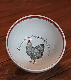 Rooster Soup Bowl