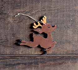 Leaping Reindeer Ornament (Personalized)