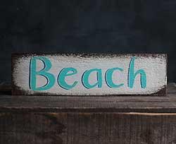 Rustic Beach Wood Sign