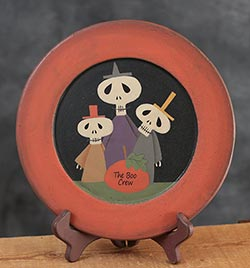 The Boo Crew Primitive Wood Plate