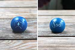 Emotion Peg Doll - Blue / Sad