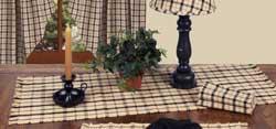 Salem Check Black Tablerunner - 36 inch