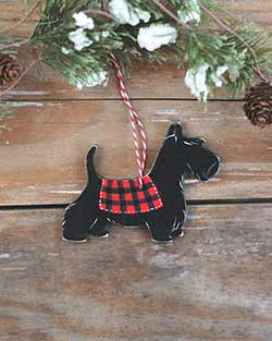 Scottish Terrier Personalized Ornament