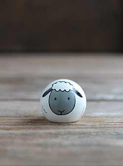 Sheep Peg Doll (or Ornament, Cake Topper)