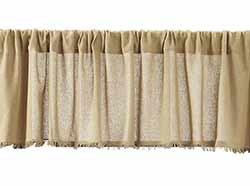 Tobacco Cloth Valance - Khaki (72 inch)