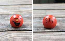 Emotion Peg Doll - Orange / Silly (or Joyful, Happy...)