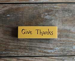 Give Thanks Mini Stick Sign