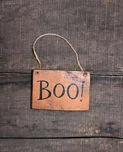 Orange Boo Mini Sign / Ornament