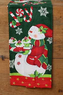 Joy Snowman Terry Towel