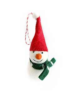 Snowman Wool Ornament