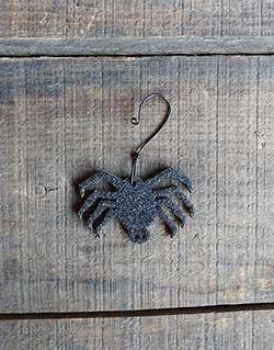 Spider Vintage Glitter Ornament - Small