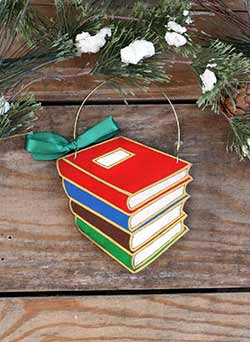 Stack of Books Ornament (Personalized)