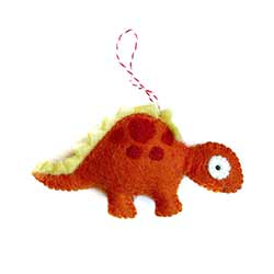 Stegosaurus Wool Ornament