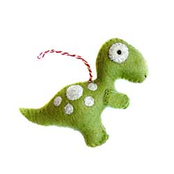 T-Rex Wool Ornament