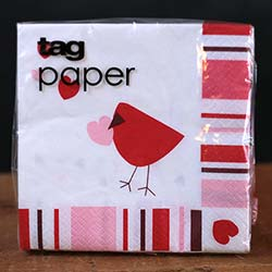 Love Bird Paper Cocktail Napkins
