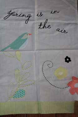Spring is in the Air Vintage Dishtowel