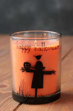 Halloween Filled Glass Candle
