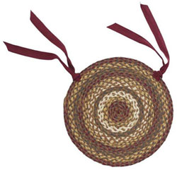Tea Cabin Braided Chair Pads (Set of 6)