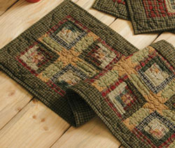 Tea Cabin Quilted Table Runner - 36 inch