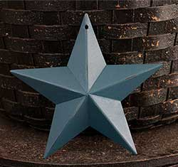 Teal Blue Barn Star (Multiple Size Options)