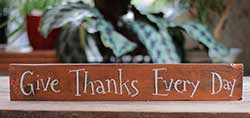 Give Thanks Every Day Sign